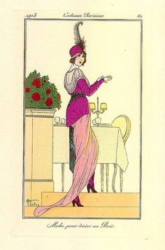 Artfully Musing: Free Images Art Deco Period Fashion Plates – First Set Art Deco Fashion, Fashion Prints, Vintage Vogue, Vintage Fashion, 1914 Fashion, French Fashion, Art Nouveau, French Women Style, Art Deco Illustration