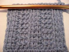 Tunisian crochet rib stitch - uses just the basic & the purl stitches to make the pattern DIY craft crochet