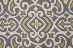 Gray and Citrine Yellow Dwell Studio Robert Allen Fabric. $16.99, via Etsy.
