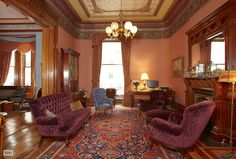 Interior photo of one of the apartments in the Dakota Building, New York City