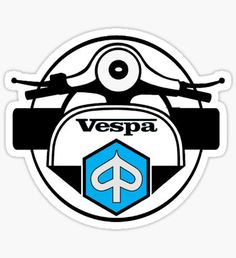 Vespa stickers featuring millions of original designs created by independent artists. Scooters Vespa, Piaggio Scooter, Vespa Ape, Motorcycle Stickers, Motorcycle Posters, Vespa Vector, Vespa Illustration, Vespa Logo, Custom Vespa