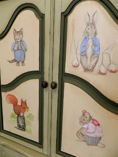 Beatrix Potter Armoire...this is such a wonderful piece for a little girls room