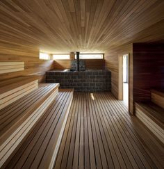 new sauna room in my house please Sauna Steam Room, Steam Bath, Sauna Room, Basement Sauna, Sauna Hammam, Spa Sauna, Design Sauna, Scandinavian Saunas, Heavenly Resort