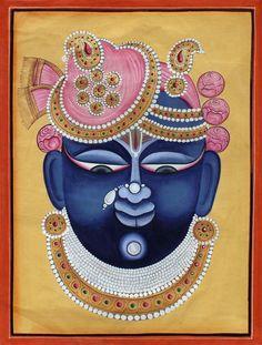 Krishna Painting, Madhubani Painting, Krishna Art, Shree Krishna, Pichwai Paintings, Indian Art Paintings, Indian Traditional Paintings, Traditional Art, Object Drawing