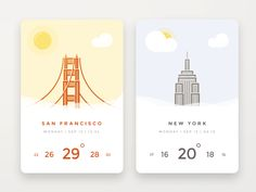 Daily UI challenge #037 — Weather by Alexander Cafa