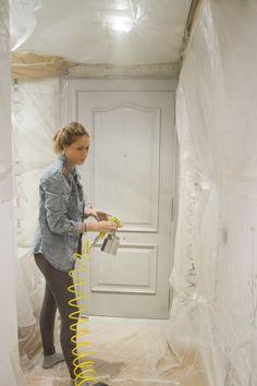 pintar puertas pistola chalk paint Pastel Colors, Colours, Painted Doors, Living Room Inspiration, Interior Design Living Room, Design Bedroom, Chalk Paint, House Design, Boho