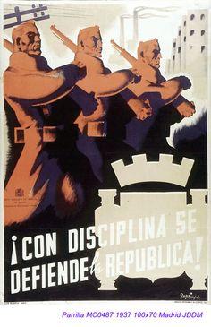 Spain - 1937. - GC - poster - @ Parrilla