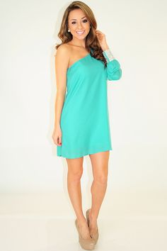 My Kind Of Party Dress: Turquoise
