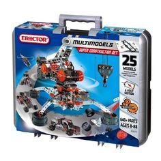 Meccano-Erector - Super Construction Set, 25 Models, 640+ Parts