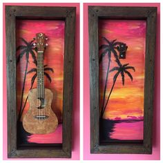 Guitar Display Case, Display Cases, Guitar Art, Made Of Wood, Shadow Box, Frames, Painting, Glass Display Case, Guitar