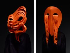 London Design Biennale 2018 — Story — Pentagram    In response to the theme of 'Emotional States' and taking inspiration from Charles Darwin's seven universal emotions, Pentagram created and commissioned a series of arresting masks, handmade by Wakefield-based paper artist Andy Singleton and photographed by London-based John Ross.