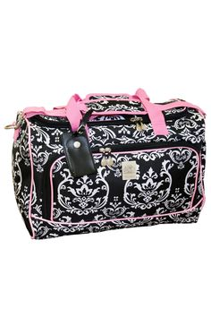 Jenni Chan Damask City Duffel In Black & Pink - Beyond the Rack $25