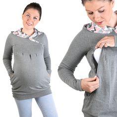 Stillmode - 3 in 1 Stillpullover Umstandspullover Stillkleid - ein Designerstück von mum2be bei DaWanda