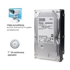 """TOSHIBA 1TB Video Surveillance HDD Internal Hard Disk Drive 5700 RPM SATA 6Gb/s 3.5"""" 32MB Cache DT01ABA100V for Security System //Price: $70.79//     #Gadget"""