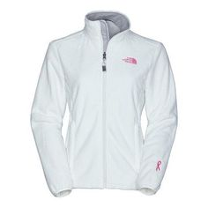 The North Face Womens Pink Ribbon Osito Jacket TNF White The North Face. $99.00