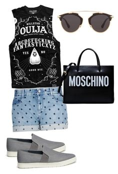 """Untitled #9"" by anna-maria-majewwska on Polyvore featuring Vince, STELLA McCARTNEY, Moschino, Christian Dior, women's clothing, women, female, woman, misses and juniors"