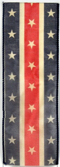 Stars and Stripes Wired Craft Ribbon  2.5 inches Wide   shelley b home and holiday