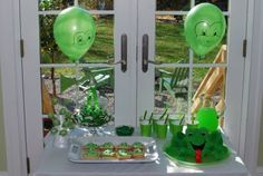 The most adorable little boy birthday party!  I love the frog theme!