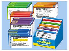 5-Minute Vocabulary Practice Cards