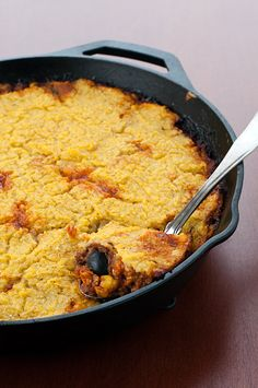 Phoo-d's tamale pie is a ridiculously delicious and hearty dish.  It's Mexican food with a twist!