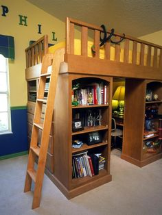 loft bed with closet underneath - Google Search
