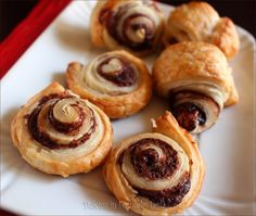 Italian Food ~ #food #Italian #italianfood #ricette #recipes ~ Swivels nutella puff pastry