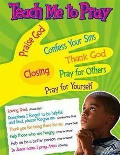 Will use this to teach my Sunday school kids. I never want them to be able to say they don't know how to pray!