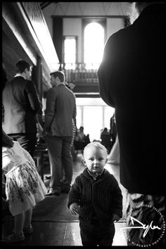 Little guest and great natural light at the wedding reception in Dunadry