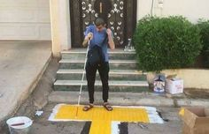 Helping blind Muslims get to their mosque safely, a charity organization in Saudi Arabia, has built a textured walking path.