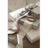 Brooches and ribbon