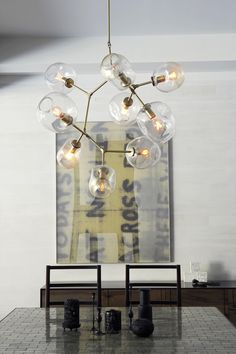 9-globe Branching Bubble - Lindsey Adelman. Just in love with her fixtures.