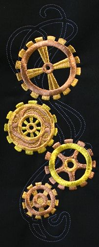 Steampunk Nouveau - Cogs - Thread List | Urban Threads: Unique and Awesome Embroidery Designs