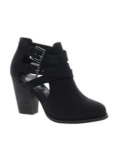 Image 1 of New Look Chilly Cut Out Ankle Boots