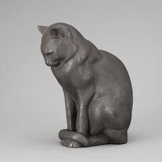 ANDERS JÖNSSON CAST IRON SCULPTURE OF A CAT
