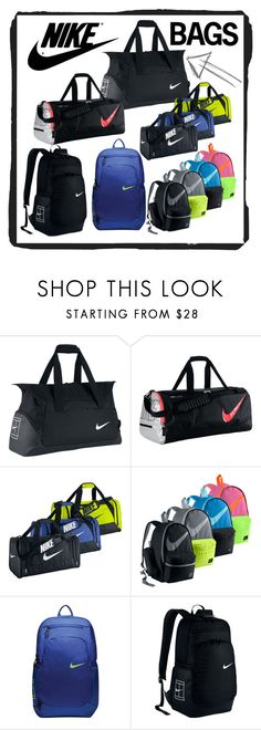 """New Nike Tennis Bags"" by tennisexpress ❤ liked on Polyvore featuring NIKE, tennis, athleticwear, tennisfashion, TennisExpress and tennisbags"