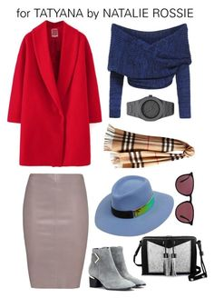 """""""Tatyana2"""" by natalie-574 ❤ liked on Polyvore featuring Jitrois, Nicholas Kirkwood, Carianne Moore, Maison Michel, Ray-Ban, CC and Burberry"""