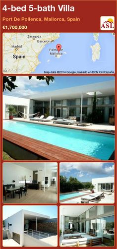 4-bed 5-bath Villa in Port De Pollenca, Mallorca, Spain ►€1,700,000 #PropertyForSaleInSpain