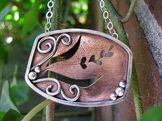 Copper Pendant by BobbiShafferIngram on Etsy, $69.00