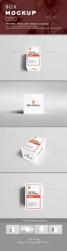 Box #Mockups - #Packaging Product Mock-Ups Download here: https://graphicriver.net/item/box-mockups/20120798?ref=alena994