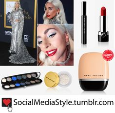 """5d6a4ea4985 Buy Lady Gaga s Marc Jacobs Beauty Futuristic Old Hollywood Glam Makeup  from the """"A Star"""