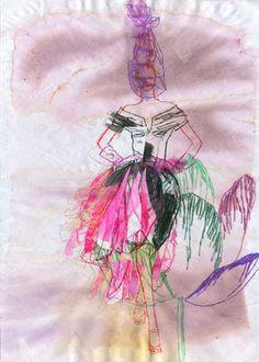 "Saatchi Art Artist Claudia Wimmer; Drawing, ""tulip 1"" #art"