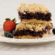 Blueberry Oatmeal Squares | Canadian Living