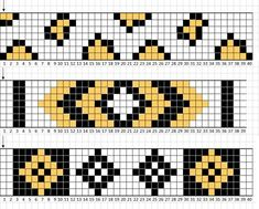 off loom beading stitches Loom Bracelet Patterns, Bead Loom Bracelets, Beaded Jewelry Patterns, Woven Bracelets, Beading Patterns, Bead Loom Designs, Fair Isle Chart, Bead Crochet Patterns, Tapestry Crochet