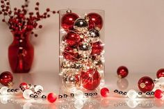 Create a Christmas centerpiece using fairy lights and ornaments. Find more great holiday decorating with fairy lights ideas here: http://blog.christmaslightsetc.com/decorating/fairy-lights-holiday-decorating/