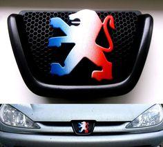 Peugeot 206 Badge French Flag