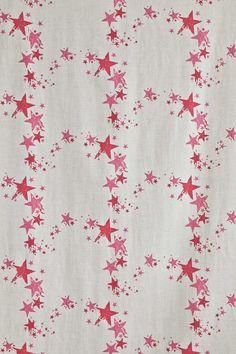 Fryetts  Scandi  Martinique Lavender hearts Curtain soft furnishing Fabric