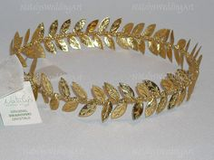 New Ancient Greek Crown Halo Style Gold Olive by NatalysWeddingArt, $65.00