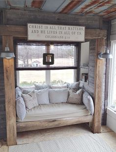That bed. That ceiling.  That porch. That sign.