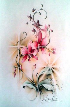 59 best orchid tattoo designs images in 2018 Mom Tattoos, Back Tattoos, Future Tattoos, Body Art Tattoos, Tattoo Drawings, Sleeve Tattoos, Tattoos For Women, Tatoos, Floral Tattoo Design