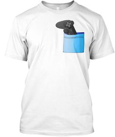 Controller In My Pocket White T-Shirt Front